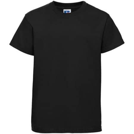 Kids` Silver Label T-Shirt in Black von Russell (Artnum: Z180K