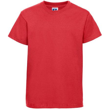 Kids` Silver Label T-Shirt in Bright Red von Russell (Artnum: Z180K