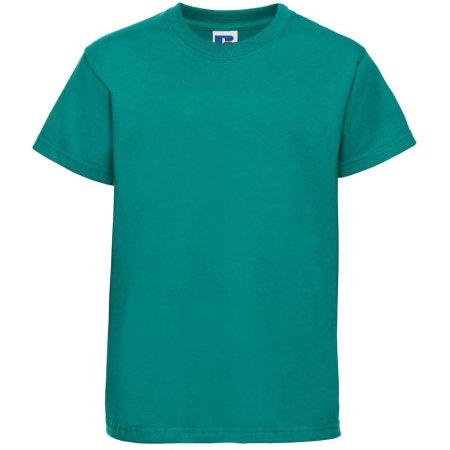 Kids` Silver Label T-Shirt in Winter Emerald von Russell (Artnum: Z180K