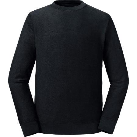 Pure Organic Reversible Sweat in Black von Russell Pure Organic (Artnum: Z208M