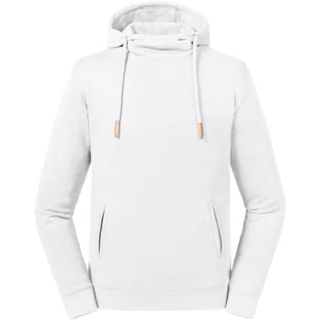 Pure Organic High Collor Hooded Sweat in White von Russell Pure Organic (Artnum: Z209M