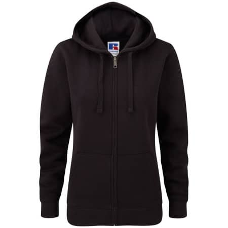 Ladies` Authentic Zipped Hood in Black von Russell (Artnum: Z266F