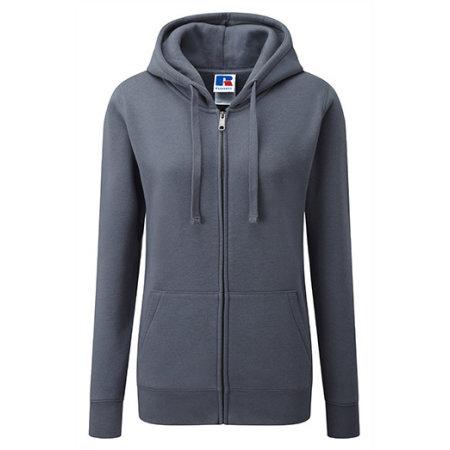 Ladies` Authentic Zipped Hood in Convoy Grey (Solid) von Russell (Artnum: Z266F