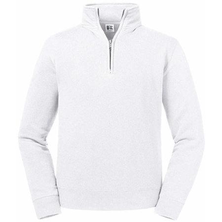 Authentic 1/4 Zip Sweat in White von Russell (Artnum: Z270M