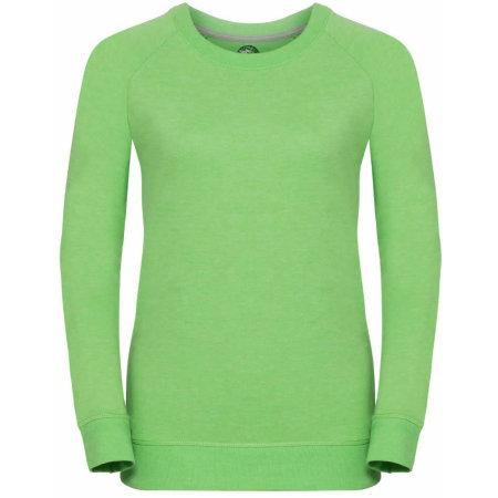 Ladies` HD Raglan Sweat in Green Marl von Russell (Artnum: Z280F