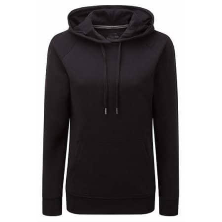 Ladies` HD Hooded Sweat in Black von Russell (Artnum: Z281F