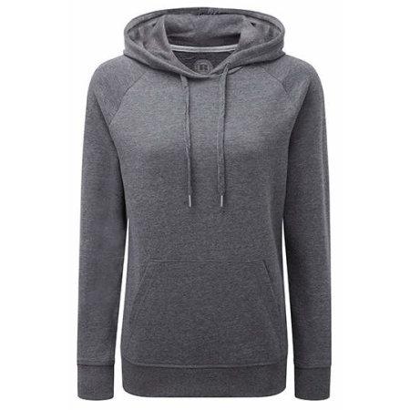 Ladies` HD Hooded Sweat in Grey Marl von Russell (Artnum: Z281F