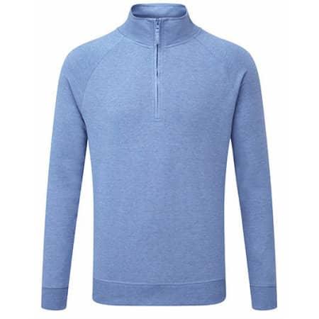 Men`s HD 1/4 Zip Sweat in Blue Marl von Russell (Artnum: Z282M