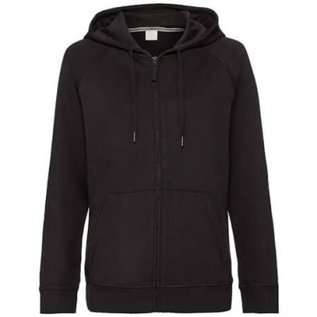 Ladies` HD Zipped Hood Sweat in Black von Russell (Artnum: Z284F