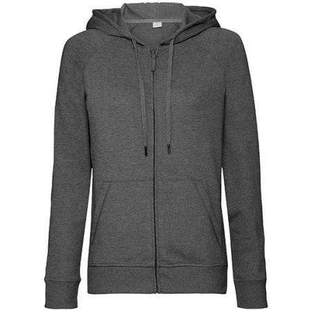 Ladies` HD Zipped Hood Sweat in Grey Marl von Russell (Artnum: Z284F