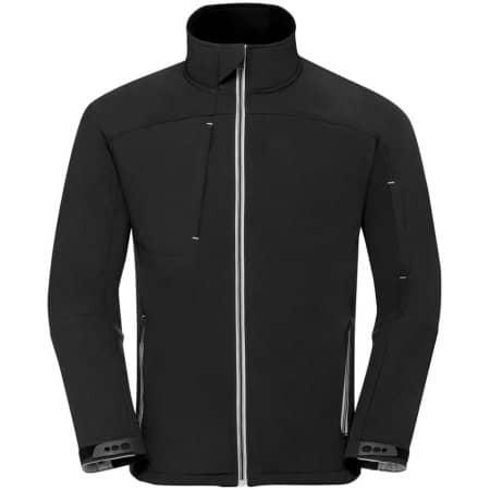 Men`s Bionic Softshell Jacket in Black von Russell (Artnum: Z410M