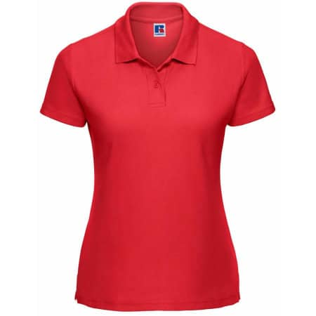 Ladies` Poloshirt 65/35 in Bright Red von Russell (Artnum: Z539F