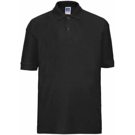 Kids` Poloshirt 65/35 in Black von Russell (Artnum: Z539K