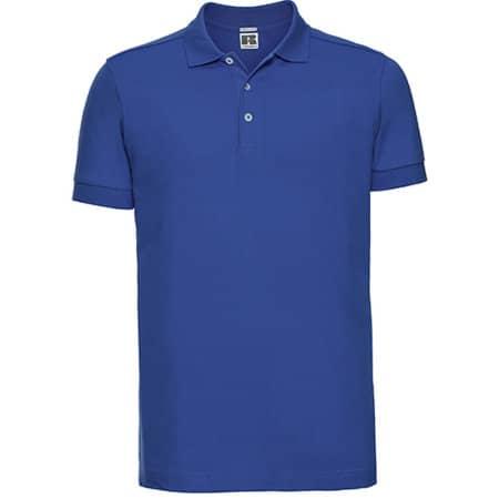 Men`s Stretch Polo in Azure Blue von Russell (Artnum: Z566