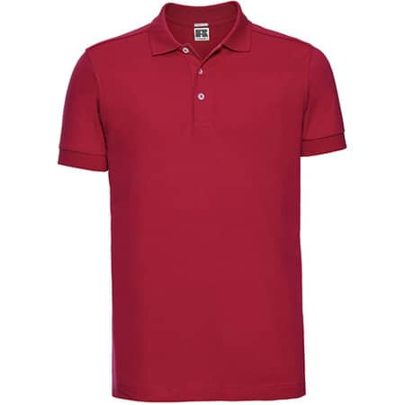 Men`s Stretch Polo in Classic Red von Russell (Artnum: Z566
