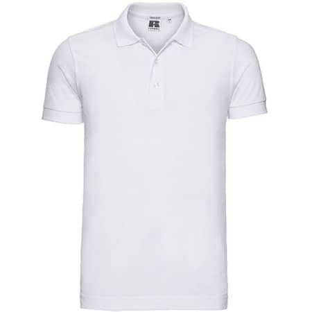 Men`s Stretch Polo in White von Russell (Artnum: Z566
