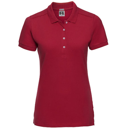 Ladies` Stretch Polo in Classic Red von Russell (Artnum: Z566F
