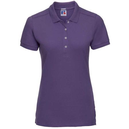 Ladies` Stretch Polo in Ultra Purple von Russell (Artnum: Z566F
