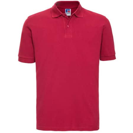 Men`s Classic Cotton Polo in Classic Red von Russell (Artnum: Z569