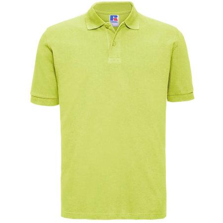 Men`s Classic Cotton Polo in Lime von Russell (Artnum: Z569