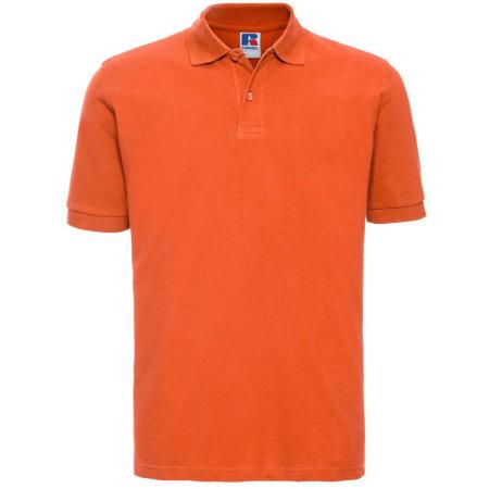 Men`s Classic Cotton Polo in Orange von Russell (Artnum: Z569