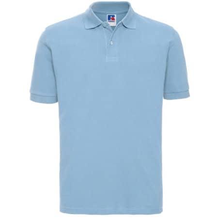 Men`s Classic Cotton Polo in Sky von Russell (Artnum: Z569