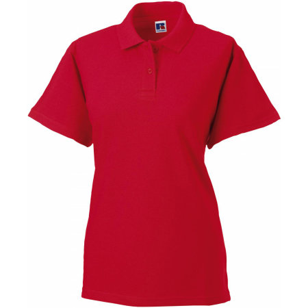 Ladies` Classic Cotton Polo in Classic Red von Russell (Artnum: Z569F