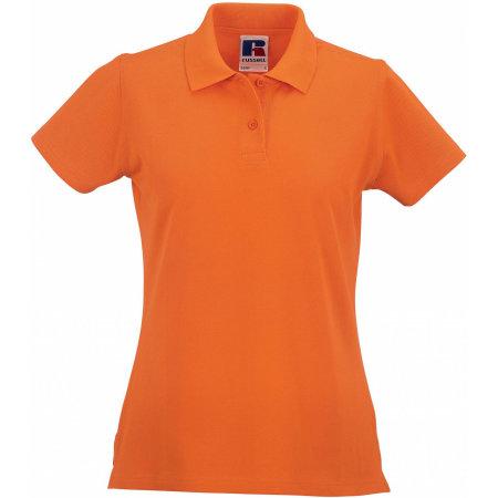 Ladies` Classic Cotton Polo in Orange von Russell (Artnum: Z569F