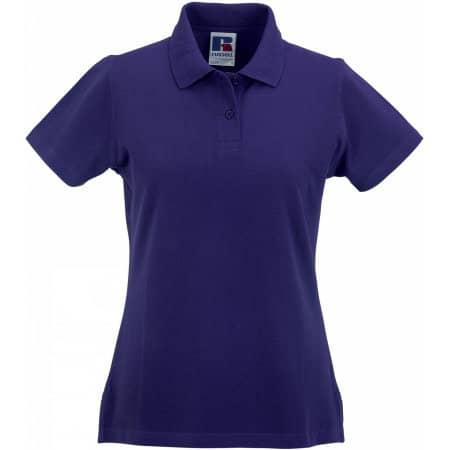 Ladies` Classic Cotton Polo in Purple von Russell (Artnum: Z569F