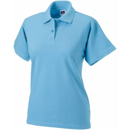 Ladies` Classic Cotton Polo in Sky von Russell (Artnum: Z569F