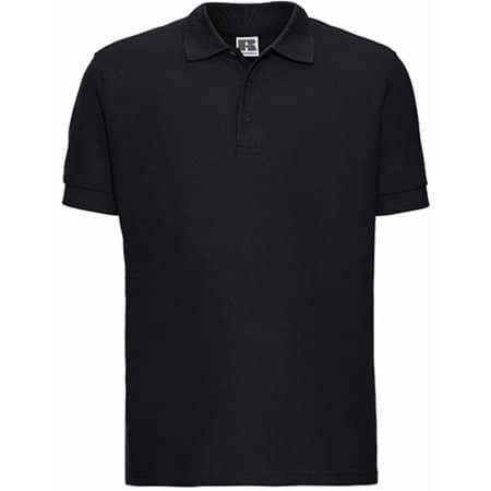 Men`s Ultimate Cotton Polo in Black von Russell (Artnum: Z577