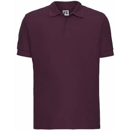 Men`s Ultimate Cotton Polo in Burgundy von Russell (Artnum: Z577