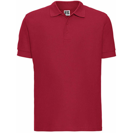 Men`s Ultimate Cotton Polo in Classic Red von Russell (Artnum: Z577