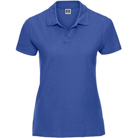 Ladies` Ultimate Cotton Polo in Azure Blue von Russell (Artnum: Z577F