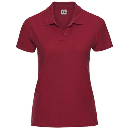 Ladies` Ultimate Cotton Polo in Classic Red von Russell (Artnum: Z577F