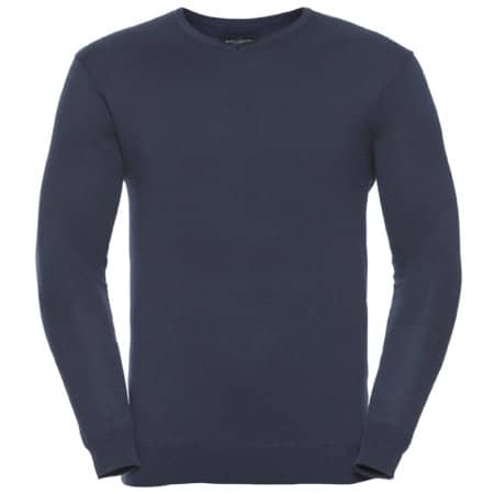 V-Neck Knitted Jumper von Russell Collection (Artnum: Z710