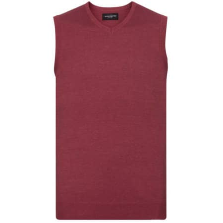 Men`s V-Neck Sleeveless Knitted Jumper von Russell Collection (Artnum: Z716