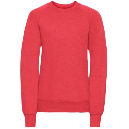 Kids` Raglan-Sweatshirt in Bright Red von Russell (Artnum: Z762K