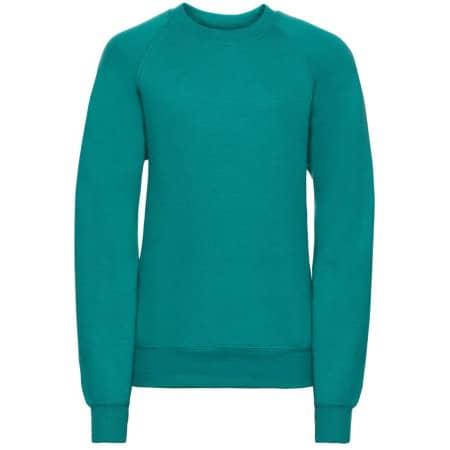 Kids` Raglan-Sweatshirt in Winter Emerald von Russell (Artnum: Z762K