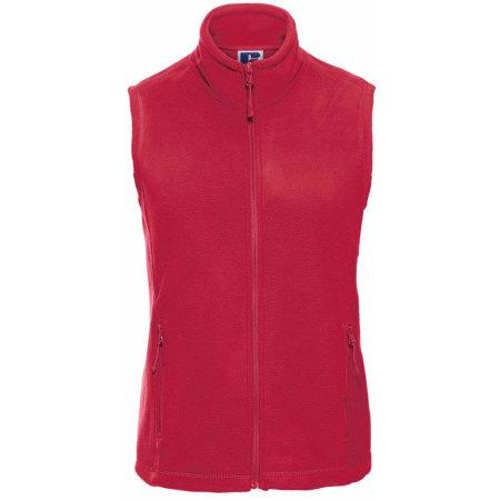 Damen Fleece Gilet in Classic Red von Russell (Artnum: Z8720F