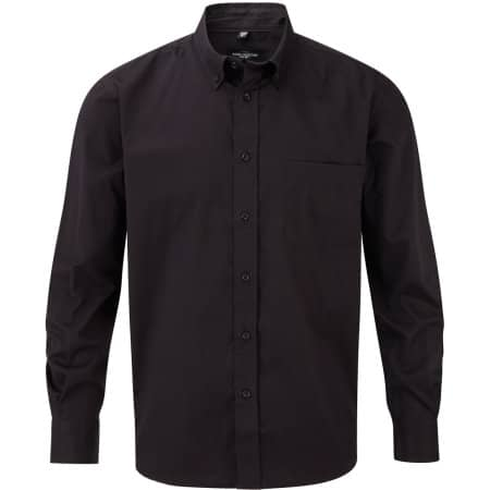 Men`s Long Sleeve Classic Twill Shirt in Black von Russell (Artnum: Z916