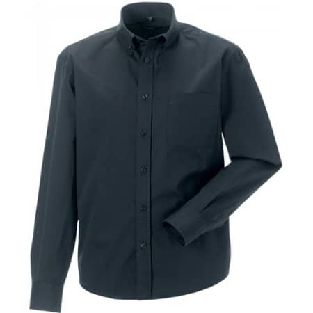 Men`s Long Sleeve Classic Twill Shirt in Zinc von Russell Collection (Artnum: Z916