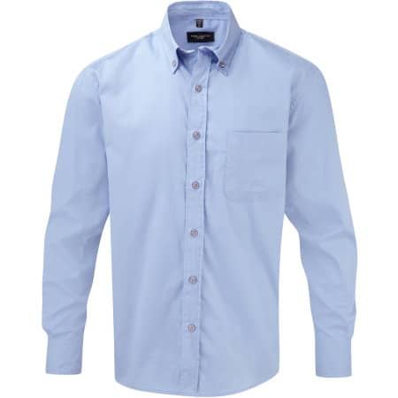 Men`s Long Sleeve Classic Twill Shirt von Russell Collection (Artnum: Z916