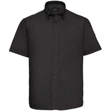 Men`s Short Sleeve Classic Twill Shirt in Black von Russell (Artnum: Z917
