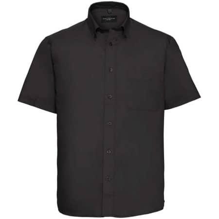 Men`s Short Sleeve Classic Twill Shirt in Black von Russell Collection (Artnum: Z917