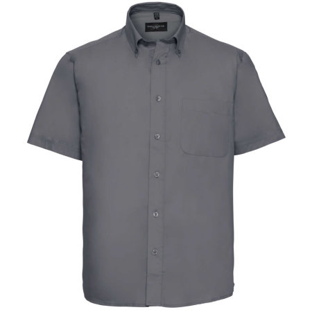 Men`s Short Sleeve Classic Twill Shirt in Zinc von Russell Collection (Artnum: Z917
