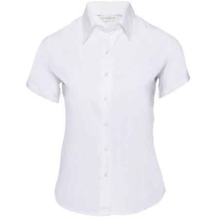 Ladies` Short Sleeve Classic Twill Shirt in White von Russell (Artnum: Z917F