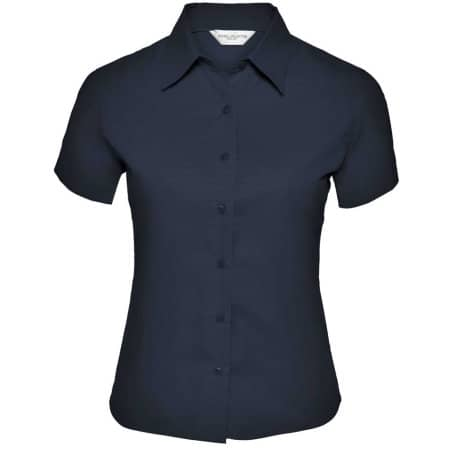Ladies` Short Sleeve Classic Twill Shirt von Russell Collection (Artnum: Z917F