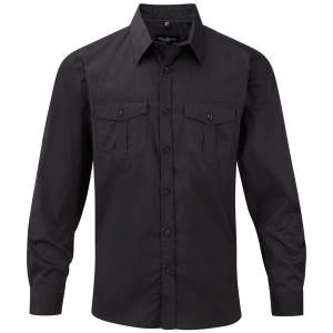 Men`s Roll Long Sleeve Twill Shirt