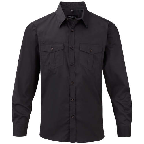 Russell Collection - Men`s Roll Long Sleeve Twill Shirt